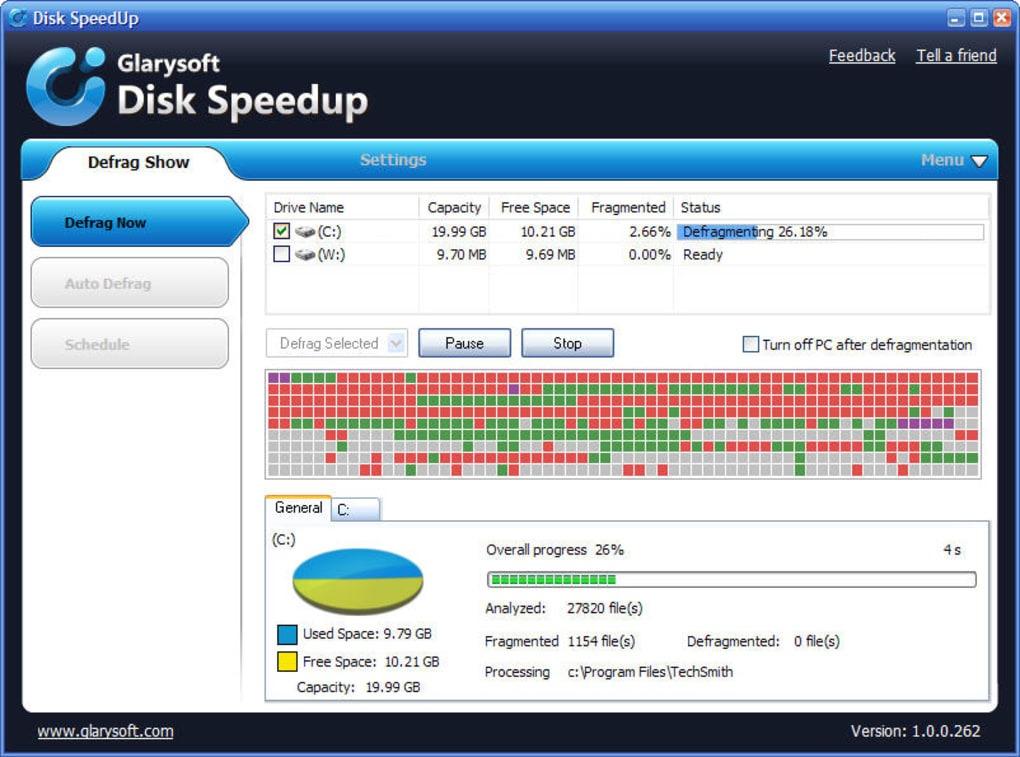 Hard drive Windows 10 Disk Speedup
