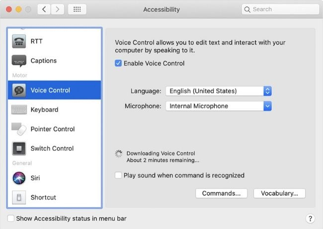 Macos Catalina Features Voice Control Screenshot