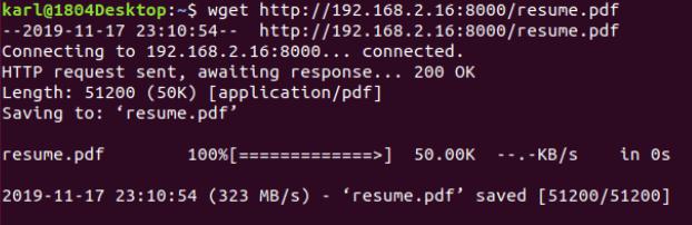 Python Http Transfer Wget