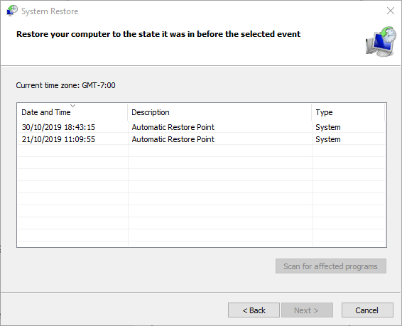 Windows 10 Update Problems System Restore