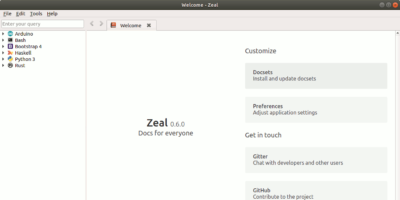 Zeal Welcome Page