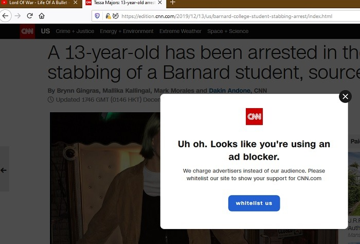 Adblock Plus Blocked Cnn