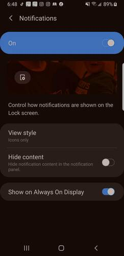 Customize Lock Screen Android Notifications