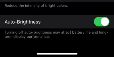 Disable Auto Brightness Ios Cover