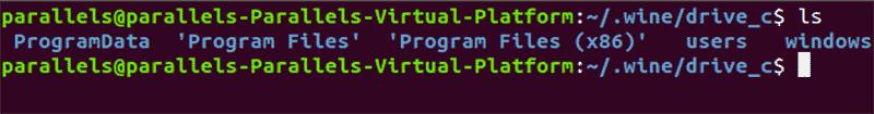 Linux Wine Drive C