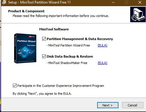 Partition Wizard Installation Free