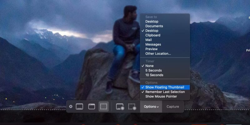 Remove Floating Thumbnail Mac Cover