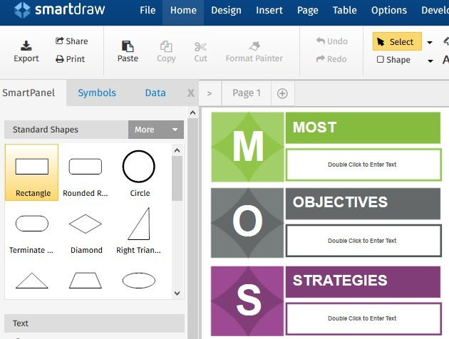 Smartdraw Basic Features