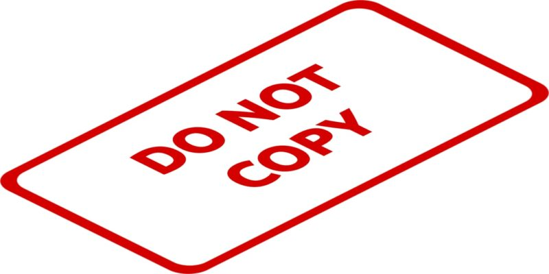 Copy Text Do Not Copy Sign