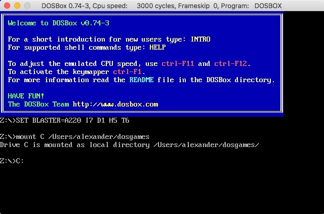 Dosbox Mount Directory Command Drive