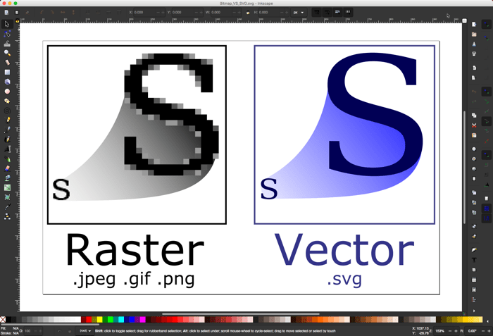 Editing Vector Images Inkscape Raster Vector