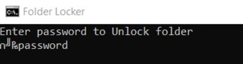 Folder Lock Enter Password