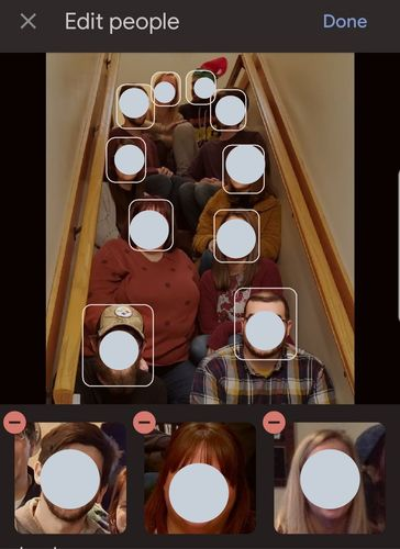 Google Photos Manual Tagging Identifying Faces Mobile