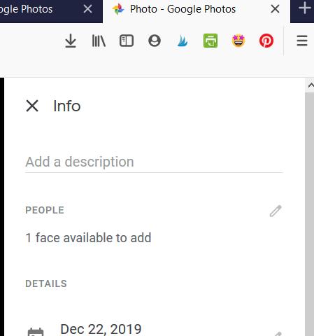 Google Photos Manual Tagging Image Information Desktop