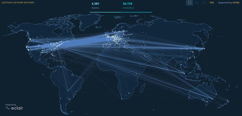 Lightning Network Explorer Map