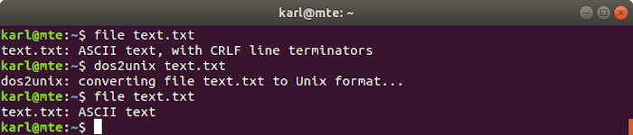 Linux Text Tools Dos2unix