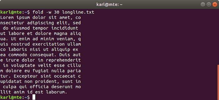 Linux Text Tools Fold
