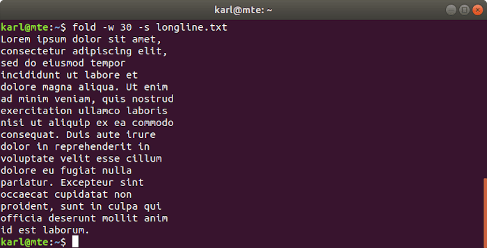 Linux Text Tools Fold Spaces