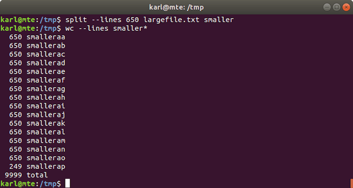 Linux Text Tools Split Lines