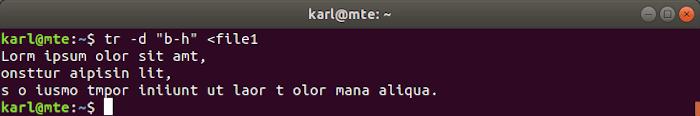 Linux Text Tools Tr D