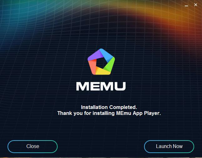 Memuplay Installer Launch Now