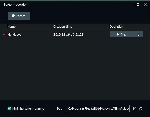 Memuplay Screen Recorder
