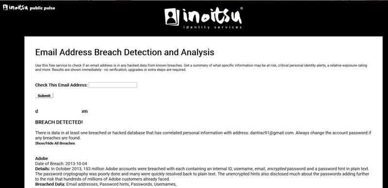 Monitor Email Breaches Inoitsu Breach Detection