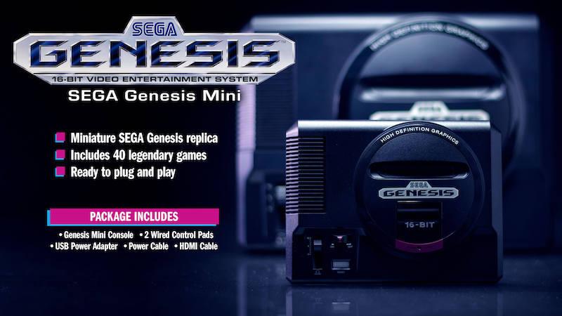Top Gifts Gamers Sega Genesis Mini