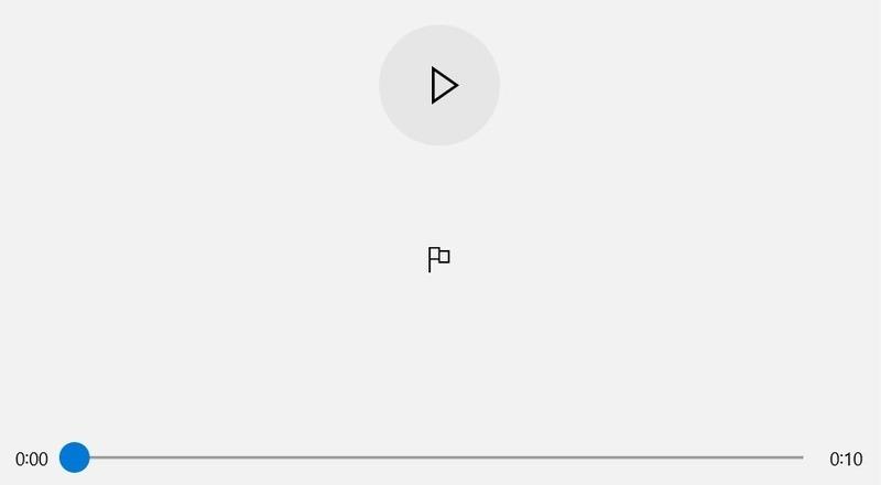 Windows Audio Recorder Button