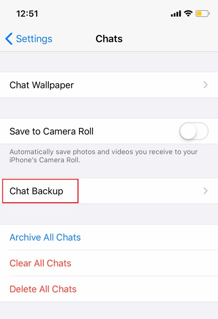 Backup Whatsapp Chats Ios Chat Backup