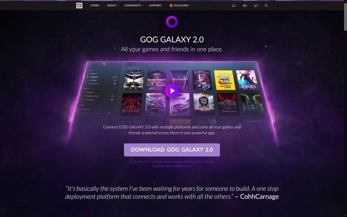 Gog Galaxy 2 Multiplatform Gaming Download