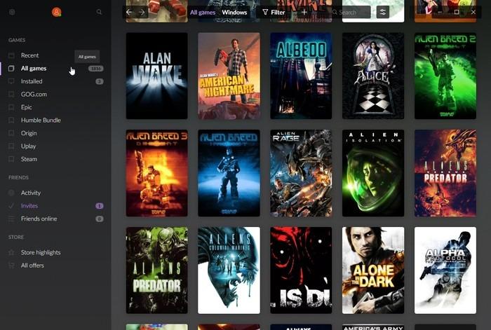 Gog Galaxy 2 Multiplatform Gaming Filters List