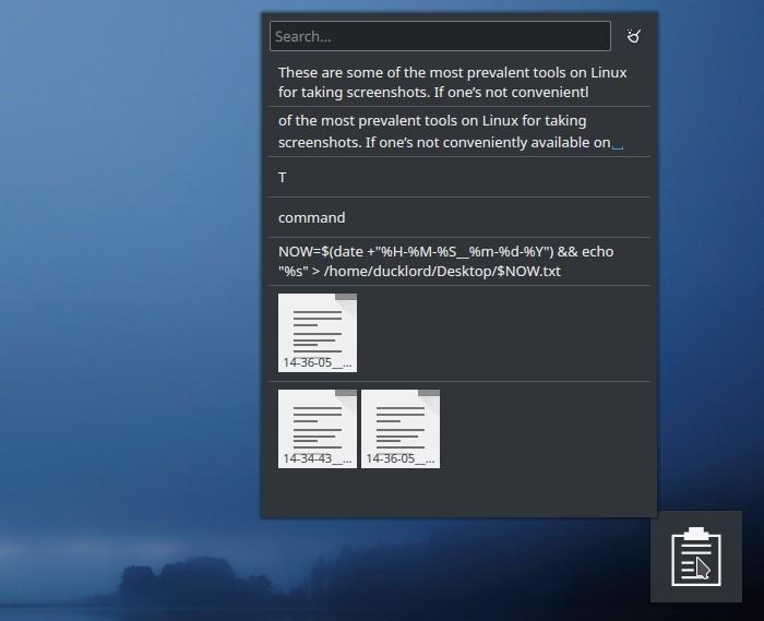 Kde Clipboard Widget Txt Notes Clipboard List