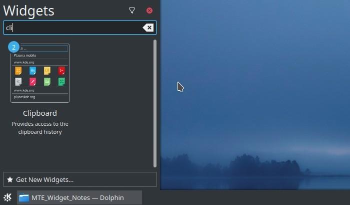 Kde Clipboard Widget Txt Notes Widget Pane