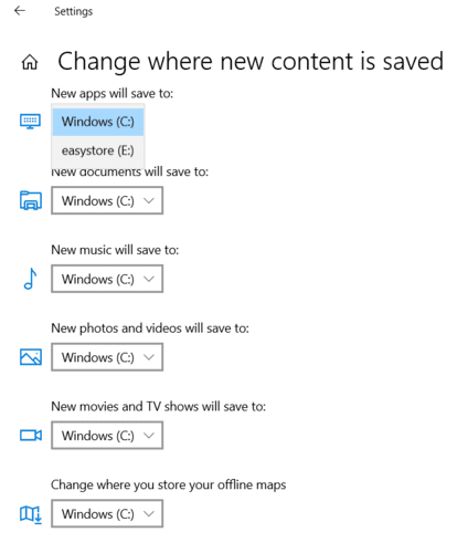 Moving Windows Programs Change Default Download Location