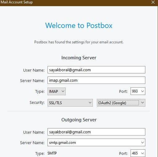 Postbox Email Client Gmail Setup