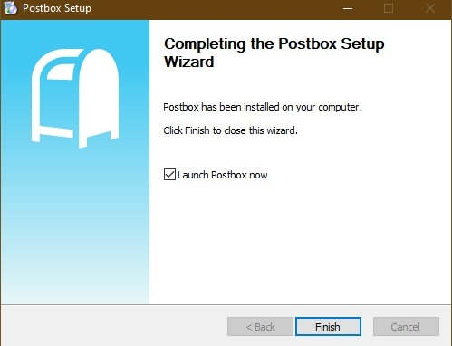Postbox Email Client Installation Wizard
