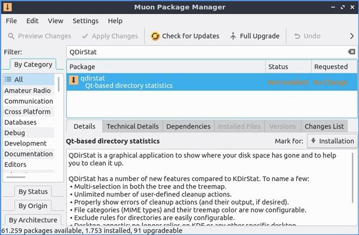 Qdirstat Reclaim Storage Installation