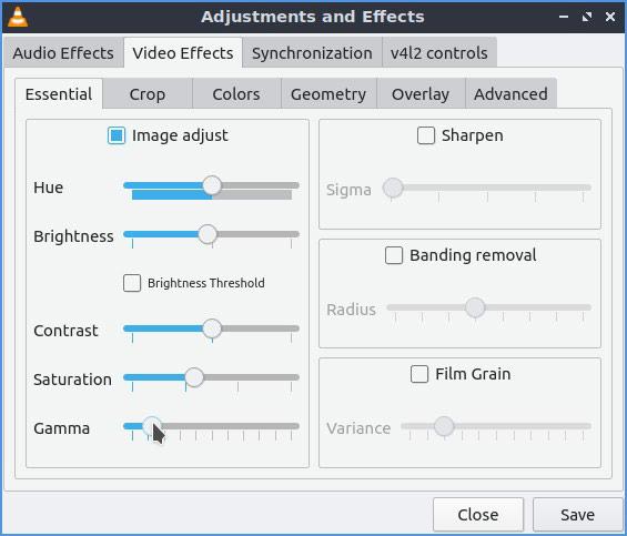 Vlc Upgraded Videos Brightness Contrast Gamma