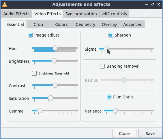Vlc Upgraded Videos Sharpen Grain