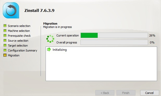 Zinstall Migrating User Profile