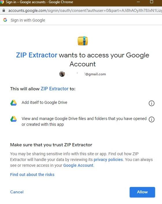 Zip Extractor Drive