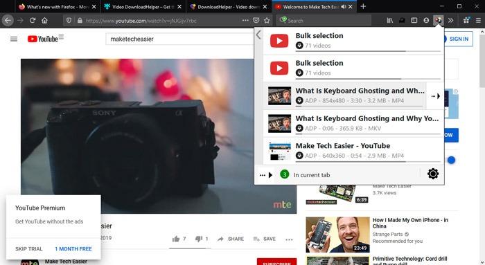 Best Firefox Extensions Video Downloadhelper