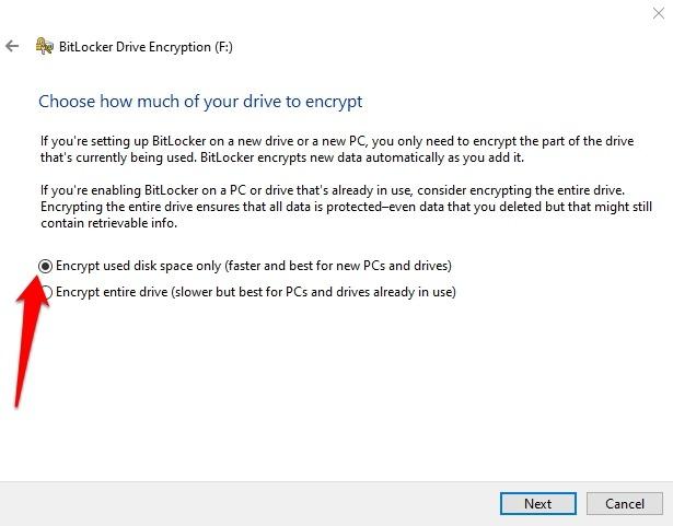 Encrypt Usb Drive Windows 10 Drive Bitlocker Encrypt Space