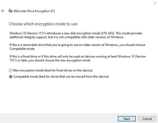 Encrypt Usb Drive Windows 10 Drive Bitlocker Encryption Mode