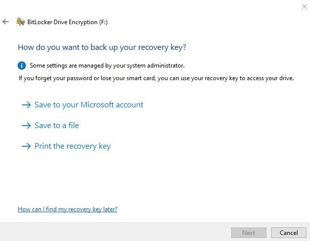 Encrypt Usb Drive Windows 10 Drive Bitlocker Recovery Key