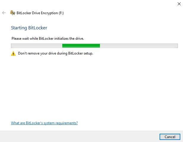 Encrypt Usb Drive Windows 10 Drive Manage Bitlocker Setup