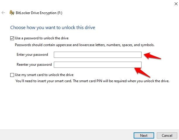 Encrypt Usb Drive Windows 10 Use Password Unlock Drive Enter Password