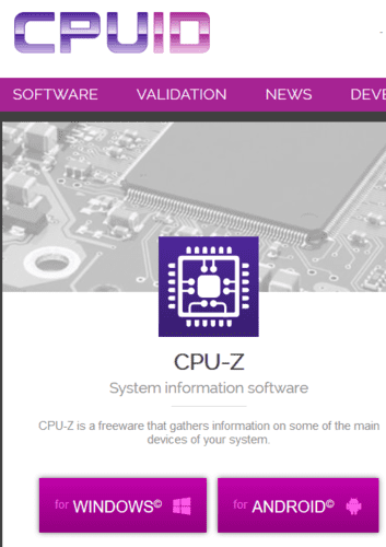 Graphics Card Identification Cpu Z For Windows