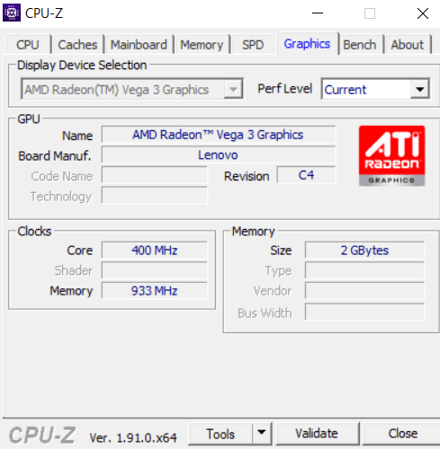 Graphics Card Identification Cpu Z Graphics Tab